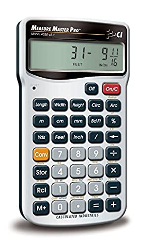 Calculated Industries 4020 Measure Master Pro Measurement Conversion Calculator (Tamaño: 1-(Pack))