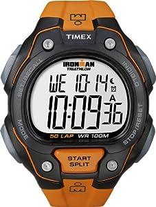 Timex Men's T5K493 Ironman Traditional 50-Lap Orange Resin Strap Watch