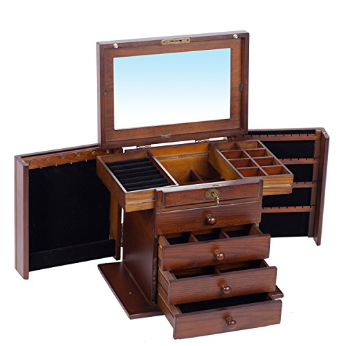 extra large wooden jewelry box jewel case cabinet