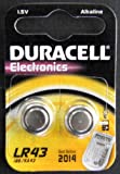 Two (2) x Duracell 186 AG12 LR43 L1142 Alkaline Battery 1.5v Blister Packed - Used in Cameras, Toys, Calculators, Torches, Watches, Laser Pointers, and many other applications.