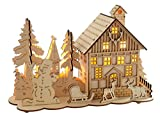 Pre-Lit-Wooden-House-Snow-Reindeer-Scene-with-Tree-Window-Christmas-Decoration-Illuminated-with-Warm-White-LED-Lights-Size-28cm