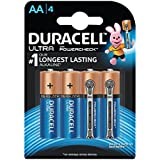 Duracell Ultra Alkaline Camera Batteries AA With Duralock Technology And PowerCheck (4 Pieces)