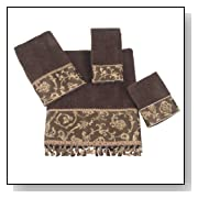 Avanti Damask Fringe 4-Piece Bath Towel Set