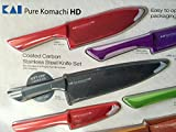Pure Komachi HD - 6 Coated Carbon Stainless Steel Knives with Matching Sheaths
