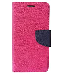 Zocardo Fancy Diary Wallet Flip Case Cover for Intex Aqua Speed HD - Pink - Premium Cover with Inner Pocket