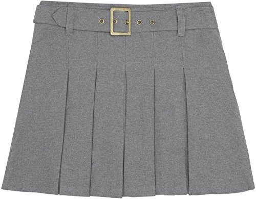 French Toast School Uniforms Pleated Scooter with Square Buckle Belt heather grey 12