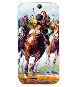 HTC ONE M8 S HORSE RIDERS Designer Back Cover Case By PRINTSWAG