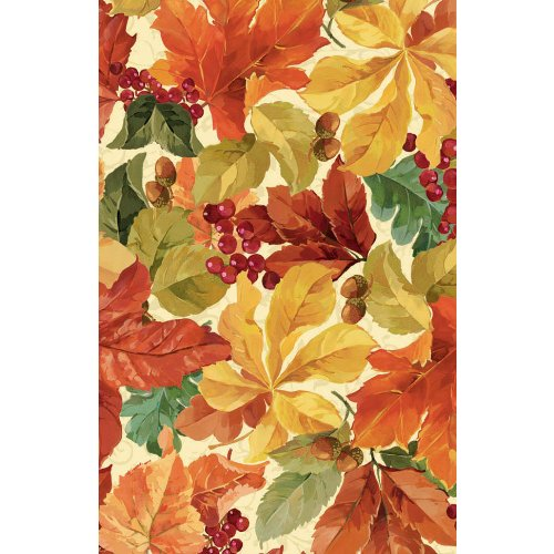 Elegant Leaves 54in x 102in Paper Tablecover