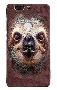 Omnam Weird Animal Printed Designer Back Cover Case For Huawei Honor V8