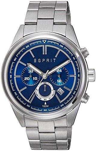 Esprit  ES107541005 - Reloj de cuarzo para hombre, con correa de acero inoxidable, color plateado