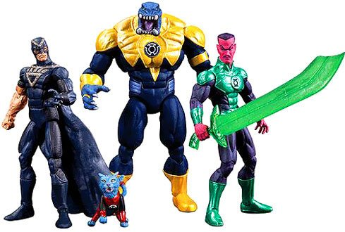 SDCC 2013 DC Comics Super Heroes Black Hand, Green Lantern Sinestro, Arkillo & Dex-Starr Action Figure 4-Pack (Dc Comics Sinestro Action Figure compare prices)