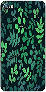 Snoogg seamless pattern with leaf Designer Protective Back Case Cover For Micromax Canvas Fire 4 A107