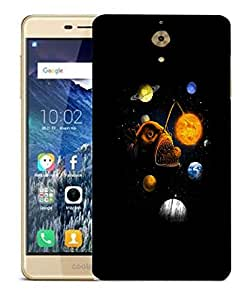 Snoogg Fish Planet Designer Protective Back Case Cover For COOLPAD MEGA 2.5 D