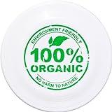 Eurodisc 110g Kids Ultimate Frisbee Flying Disc 98% ORGANIC MATERIAL - WHITE