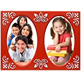 Table Top Designer Photo Frame Red( 2 Photos Of 3.5x4.5 Inch)