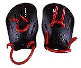 【SCGEHA】 スイミング パドル 筋トレ ストローク アップ フォーム 水泳 トレーニング 水かき (ブラック, 子供用)