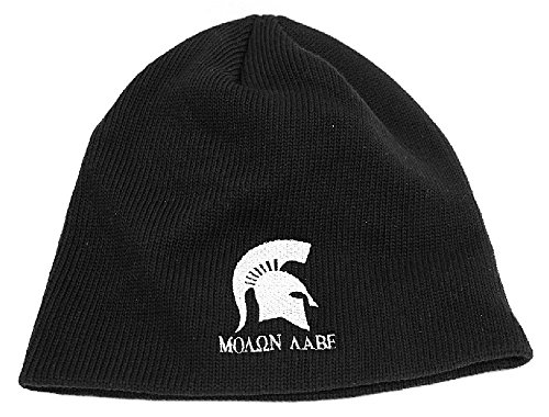 cefb8934031 Molon Labe Apparel Men s Knit Cotton Beanie Cap Spartan Helmet 1