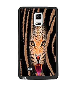 PrintDhaba Leopard D-4968 Back Case Cover for SAMSUNG GALAXY NOTE 4 (Multi-Coloured)