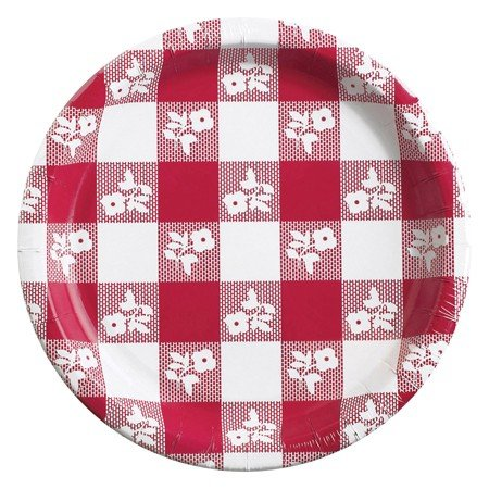 Club Pack of 96 Red Gingham Lunch Plates 9 electric lunch box double layer stainless steel liner cooking lunch boxes multifunction plug in lunch box steamed rice steamer