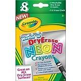 Crayola Dry Erase Neon Crayons, 8 Count