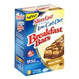 Slim-Fast Low Carb Breakfast Bars, Peanut Butter, Case Pack (Six Boxes of 5 Bars (30 Bars))