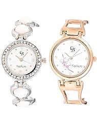 CB Fashion Combo Of Analog Multicolour Dial Women's Watch (RW152)