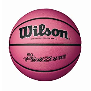 Wilson NCAA WBCA Pink Zone Solution Game Basketball (28.5-Inch)