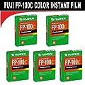 Fujifilm Fujicolor Professional FP-100C Color Instant Film - ISO 100 - 10 exposures - 5 Pack