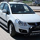 Trittbretter f�r Suzuki SX 4 ab Bj 06 auch Facelift ab Bj 09 mit T�V/ABE Bescheinigung (aus Aluminium) | Sidestep Seitenschweller Trittleisten