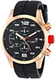 red line Men's RL-50042-RG-01 Stealth Chronograph Black Textured Dial Black Silicone Watch