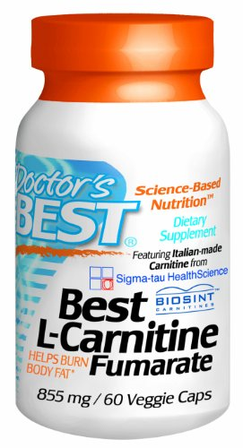 Doctor'S Best Best L-Carnitine Fumarate Featuring Italian-Made Carnitine (855 Mg), Vegetable Capsules, 60-Count