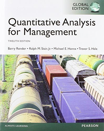 Quantitative analysis for management homework help
