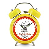 Modern Fashion Lovely Colorful Metal Alarm Clock Yellow 941