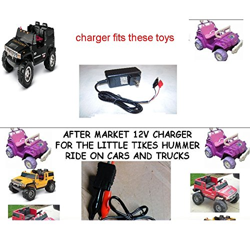 12V Clip Charger for Little Tikes H2 Hummer Truck and Car by Pure Power Adapters® (Hummer H2 Truck compare prices)
