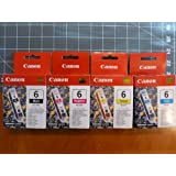 Genuine Canon BCI-6 4-Color Value Pack in Factory Shrink Wrap and Easy Open Bulk Packaging-Black/Cyan/Magenta/Yellow!
