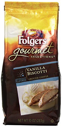 Folgers Gourmet Selections Coffee, Vanilla Biscotti Ground Coffee, 12-Ounce Bags (Pack Of 3)