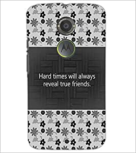 PrintDhaba Quote D-4686 Back Case Cover for MOTOROLA MOTO X2 (Multi-Coloured)
