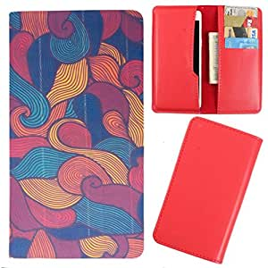 DooDa - For Spice Stella Guide 438 PU Leather Designer Fashionable Fancy Case Cover Pouch With Card & Cash Slots & Smooth Inner Velvet
