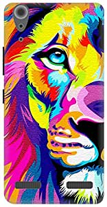 The Racoon Lean Eye of the Lion hard plastic printed back case for Lenovo A6000