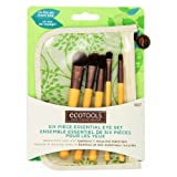 (6 Pack) EcoTools Six Piece Essential Eye Brush Set - Bamboo / Recycled Materials