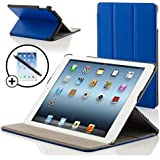 ForeFront Cases® New iPad 2 / iPad 3 & iPad 4 Luxury Leather Case / Cover Stand - Apple iPad 2 , iPad 3 & iPad 4 / 2nd , 3rd & 4th Gen - Magnetic Auto Sleep Wake Function + STYLUS & SCREEN PROTECTOR WORTH £9.95 - BLUE