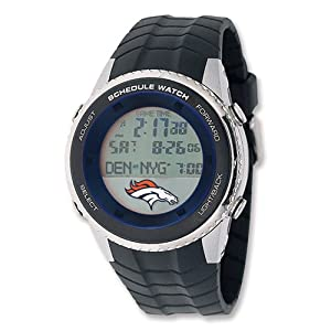 Mens NFL Denver Broncos Schedule Watch by Jewelry Adviser Nfl Watches