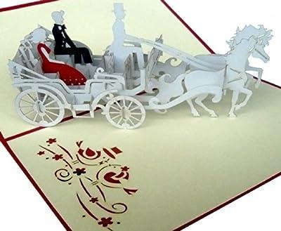 Hochzeitskarte mit Hochzeitskutsche