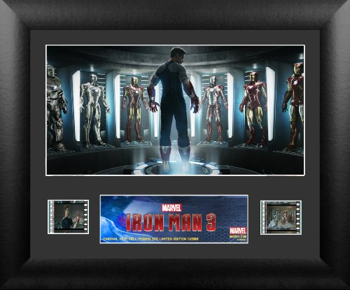 Trend Setters Iron Man 3 Hall Of Armors Single Framed Film Cell Presentation front-7430