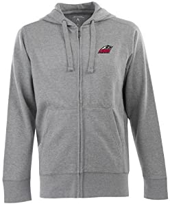New Mexico Signature Full Zip Hooded Sweatshirt (Grey) by Antigua
