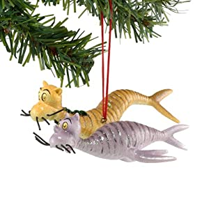 Dr. Seuss from Department 56 Cat Fish Ornament