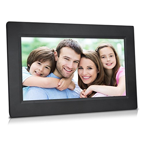 Sungale 10 Inch WiFi Cloud Digital Photo Frame with Touch Panel, Free Cloud Storage, High-Resolution 1024x600 LED Display (Black) (Photo Digital Storage compare prices)