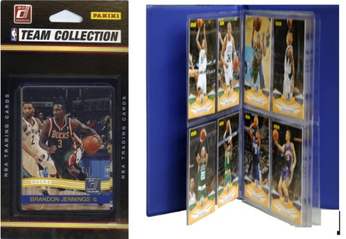 NBA Milwaukee Bucks Licensed 2010-11 Donruss Team Set Plus Storage Album
