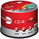 "PRIMEON CD-R 52X 80min / 700MB LightScribe Version 1.2 color mix edition 50er Spindelvon ""PRIMEON"""