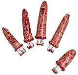 Dedos cortados decoración Halloween sangre mano